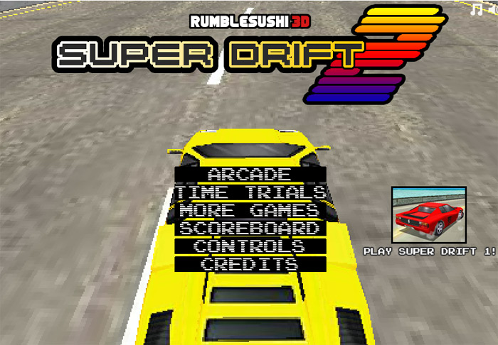 Click to play Super Drift 3D 2